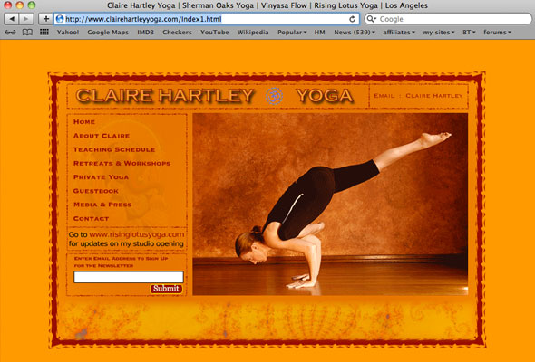 Claire Hartley Yoga Portfolio Picture