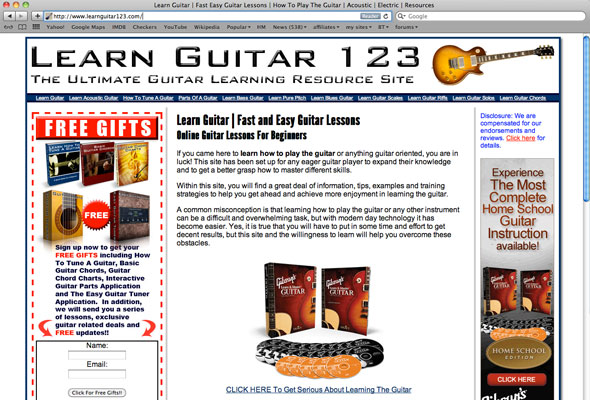 Learn Guitar 123 Portfolio Picture