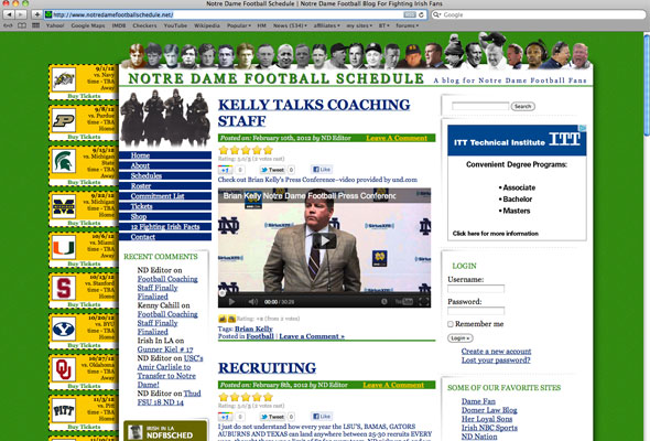 Notre Dame Football Schedule Portfolio Picture
