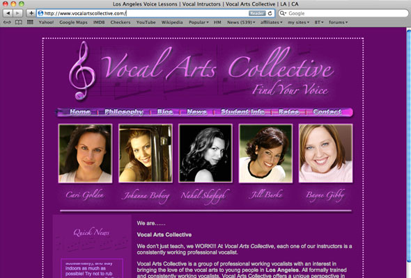 Vocal Arts Collective Portfolio Picture